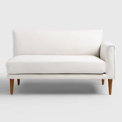 Ivory Nica Right Facing Sectional 2 Seat Sofa World Market
