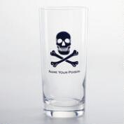 Skull & Crossbones Highball Glasses, Set of 4