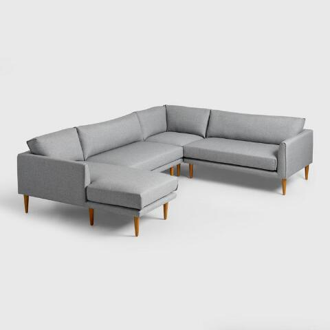Gray Nica Sectional Armless 2 Seat Sofa World Market
