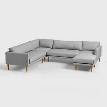 Gray Nica Sectional Sofa Collection