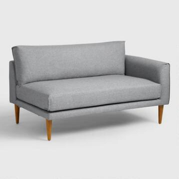 Gray Nica Right Arm Facing Sofa