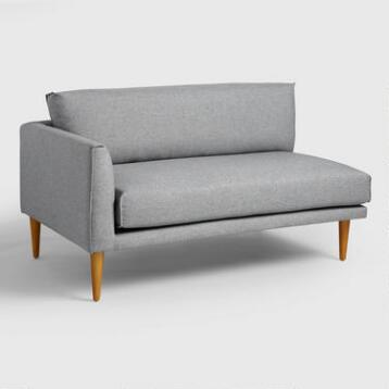 Gray Nica Left Arm Facing Sofa