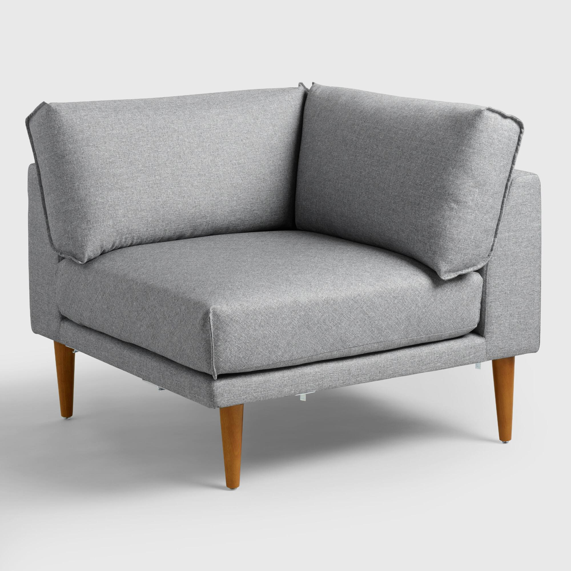 Gray Nica Sectional Corner Chair World Market