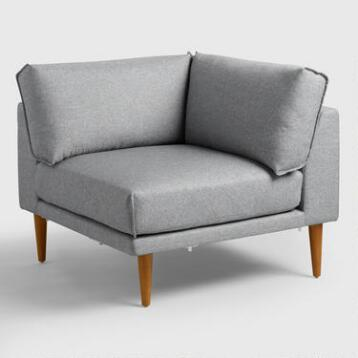 Gray Nica Sectional Corner Chair