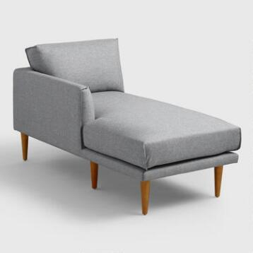 Gray Nica Left Arm Facing Chaise Lounge