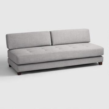 Light Gray Hartley Upholstered Duet Daybed