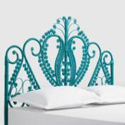 Turquoise Wicker Headboard