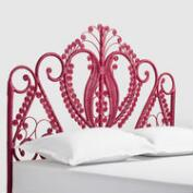 Fuchsia Wicker Headboard