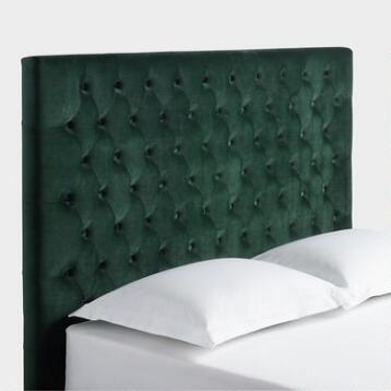 Forest Green Jaelyn Tufted Queen Headboard