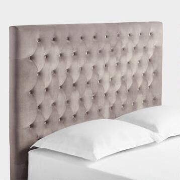 Taupe Jaelyn Tufted Queen Headboard