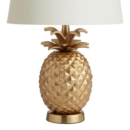 Brass Pineapple Accent Lamp Base