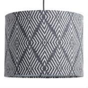 Indigo Tribal Embroidered Cotton Drum Table Lamp Shade