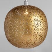 Matte Gold Lattice Orb Priya Pendant Shade
