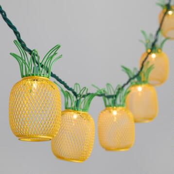 Wire Pineapple 10 Bulb String Lights