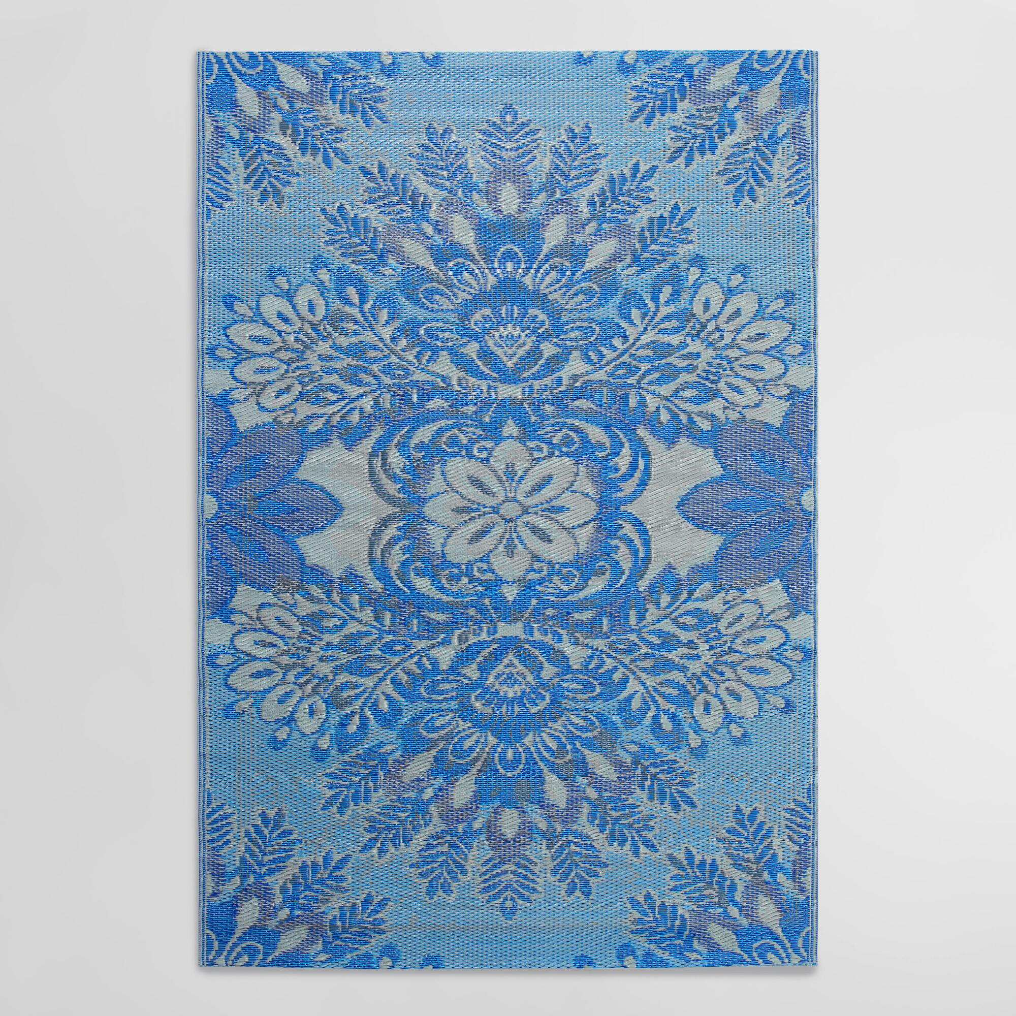 4'x6' Blue and Gray Esme Indoor Outdoor Rio Floor Mat ... - photo#25
