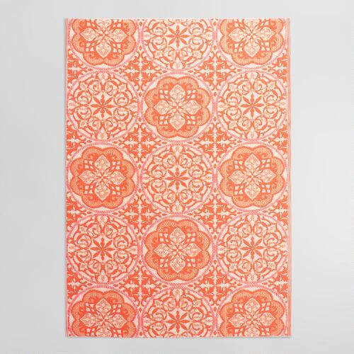 6'x9' Orange Gabriella Indoor Outdoor Rio Floor Mat ... - photo#16