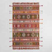 Multicolor Stripe Kilim Woven Zaire Indoor Outdoor Rug