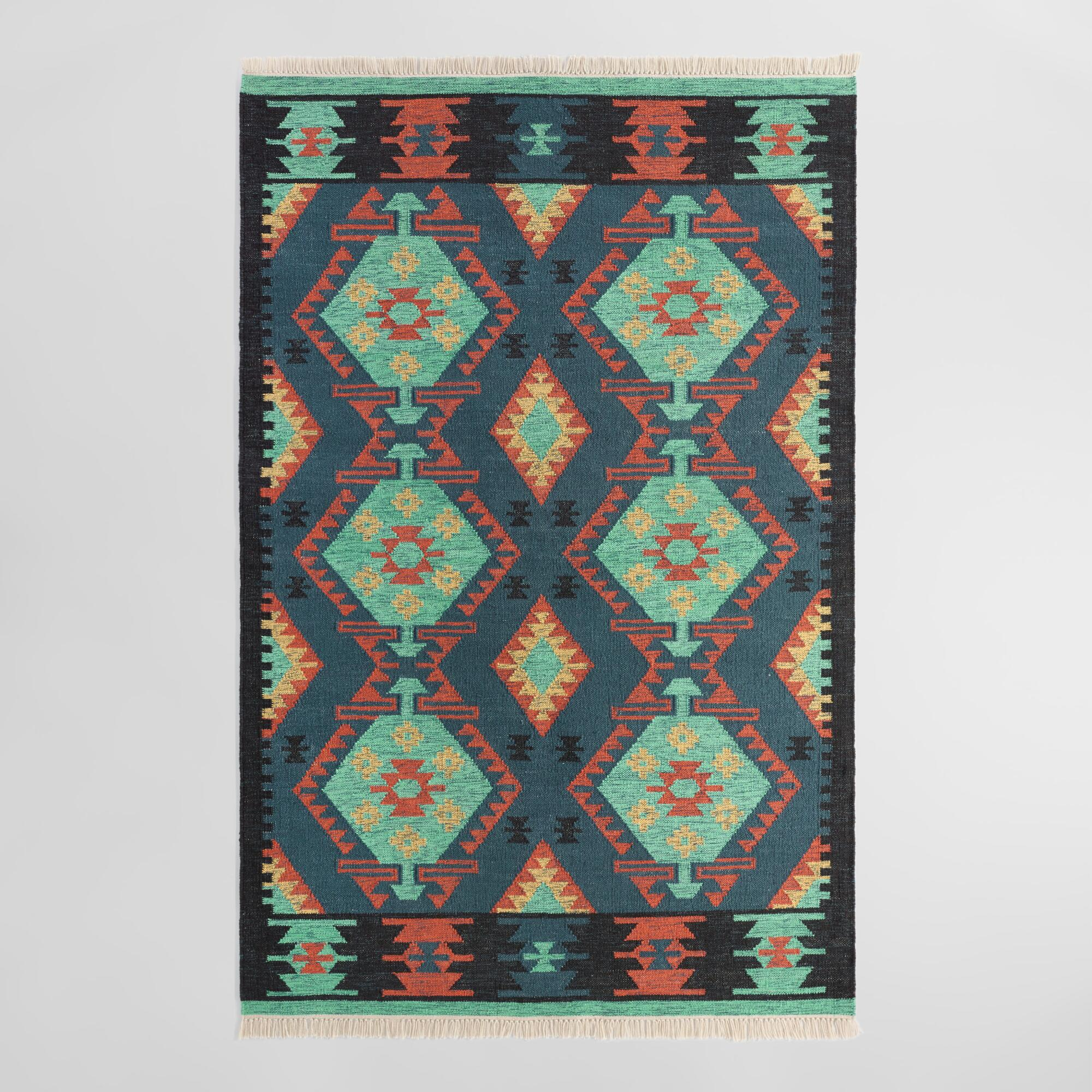Multicolor Diamond Kilim Woven Darra Indoor Outdoor Rug ... - photo#26