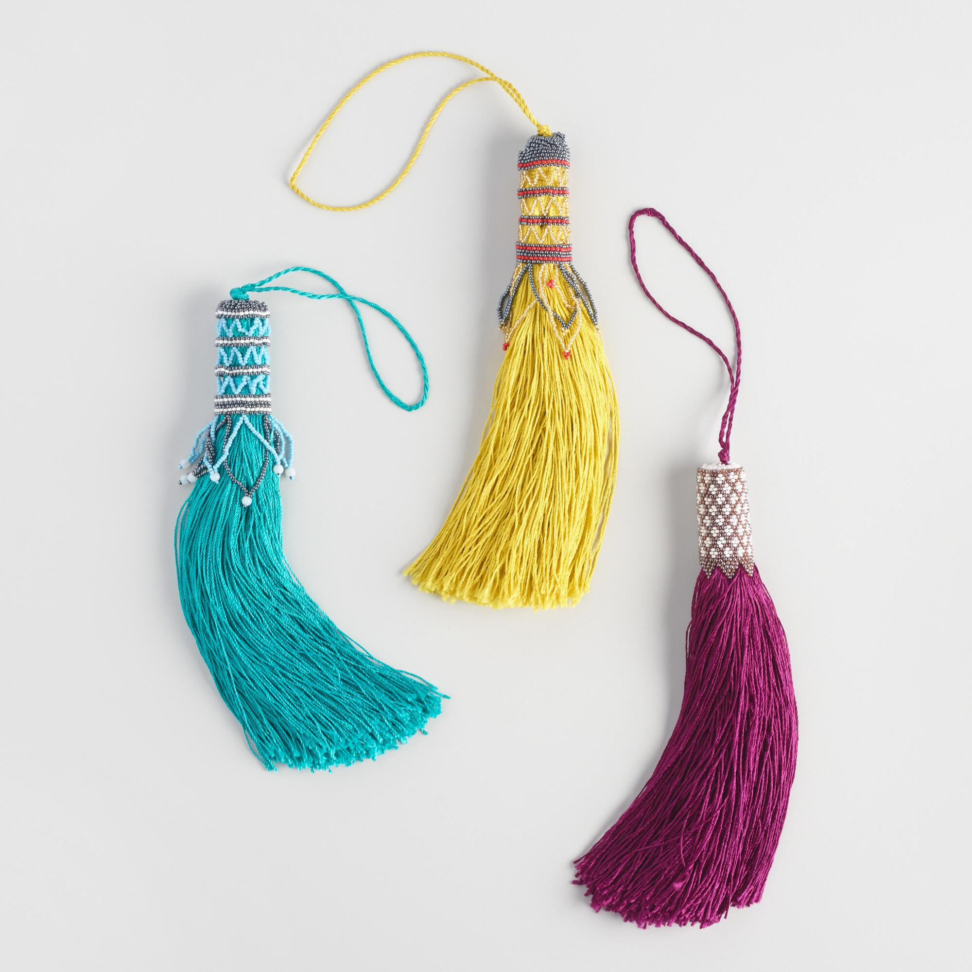Beaded Door Knob Tassels Set Of 3 World Market