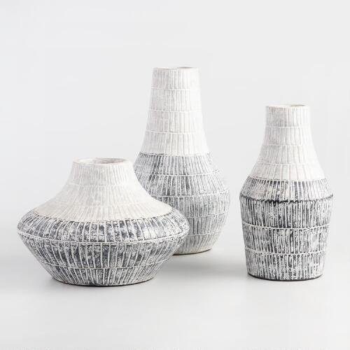 Gray Terracotta Vases