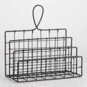 Espresso Wire Carter Letter Holder