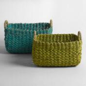 Green and Blue Seagrass Emily Baskets