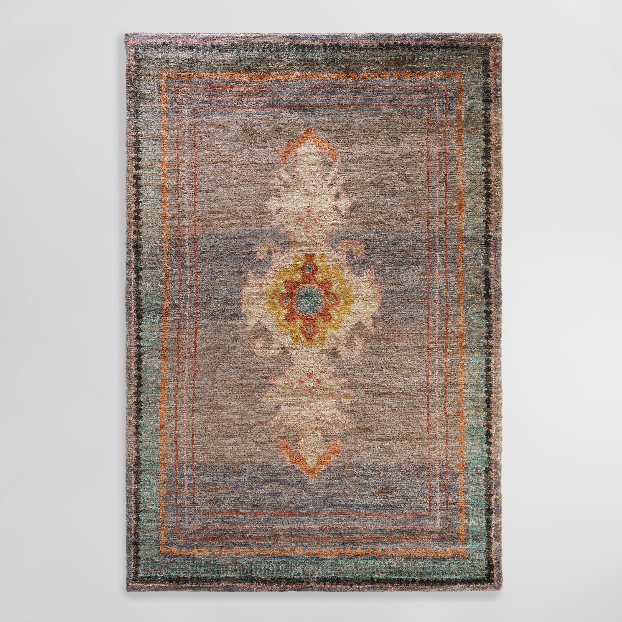 6'x9' Hand Knotted Washed Jute Izmir Area Rug