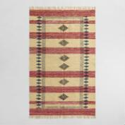 5'x8' Block Print Jute and Cotton Chindi Almas Area Rug
