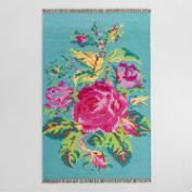 5'x8' Pink Rose Wool Kilim Mirabel Area Rug
