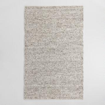 Gray Chunky Sweater Wool Allegra Area Rug