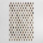 Pieced Lattice Brazilian Leather Area Rug