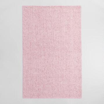 Blush Pink Flatweave Sweater Wool Emilie Area Rug