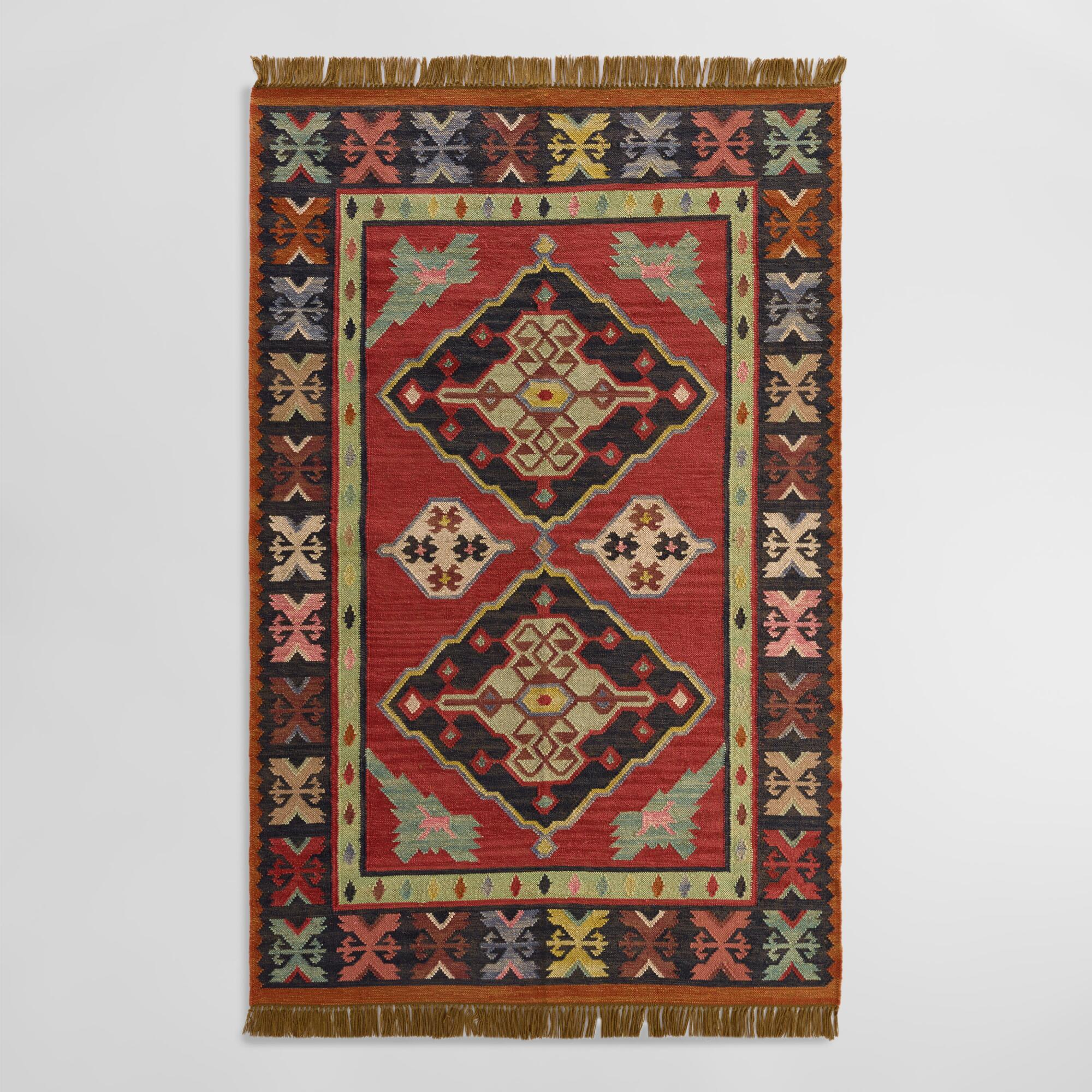 Red Kilim Reversible Esme Indoor Outdoor Rug | World Market - photo#29