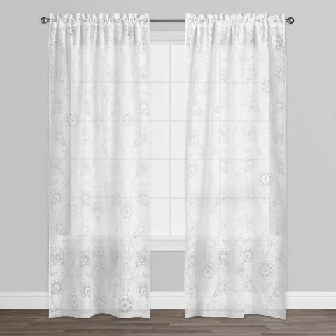 Burnout Curtains White Palampore ...