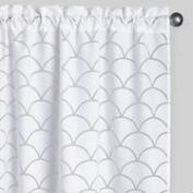 White Wave Burnout Curtains Set of 2