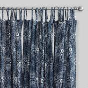 Indigo Dot Sheer Crinkle Voile Cotton Curtains Set of 2