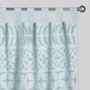 Aqua Petal Cutwork Sheer Cotton Curtains Set of 2