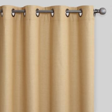 Narcissus Gold Cotton Olson Curtains Set of 2