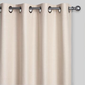 Ivory and Tan Cotton Olson Curtains Set of 2