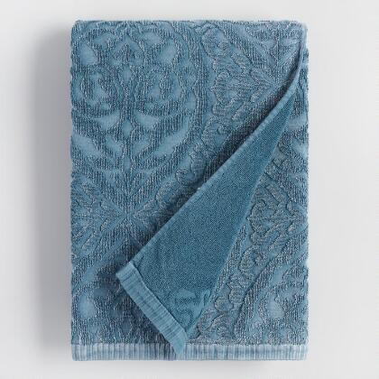 Blue Ogee Therese Sculpted Bath Towel