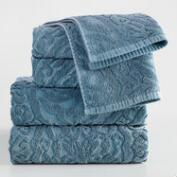 Blue Ogee Therese Sculpted Towel Collection