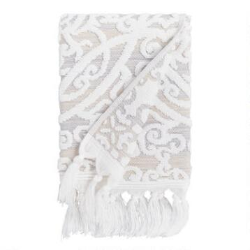 Taupe Medallion Scarlett Sculpted Hand Towel