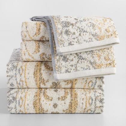 Gold and Taupe Ombre Ariana Towel Collection