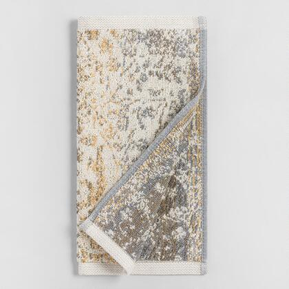 Gold and Taupe Ombre Ariana Washcloth Set of 2