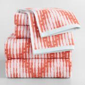 Burnt Coral Sydney Chevron Jacquard Towel Collection