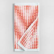 Burnt Coral Sydney Chevron Jacquard Washcloth Set of 2