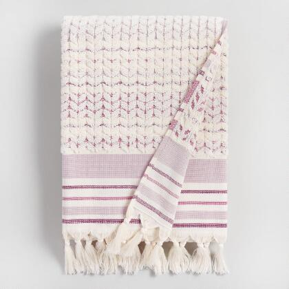 Lavender and Ivory Riley Sculpted Bath Towel