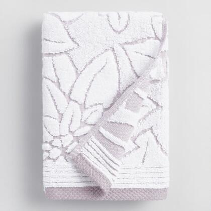 Lavender Floral Angelica Sculpted Hand Towel