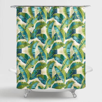 White Lilith Floral Shower Curtain | World Market