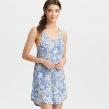 Blue Floral Ava Tank Sleep Top